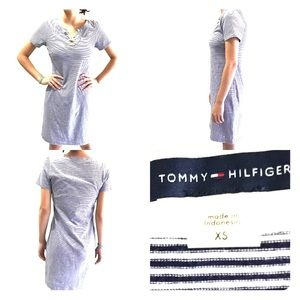 Tommy Hilfiger Tunic Cotton Striped Mini Dress XS